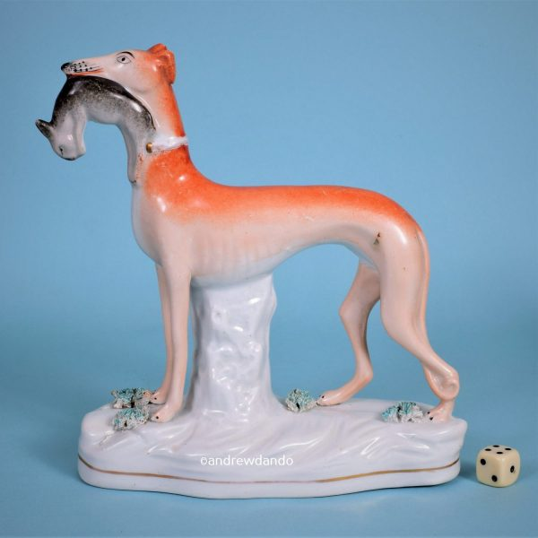 Staffordshire Greyhound with Hare.