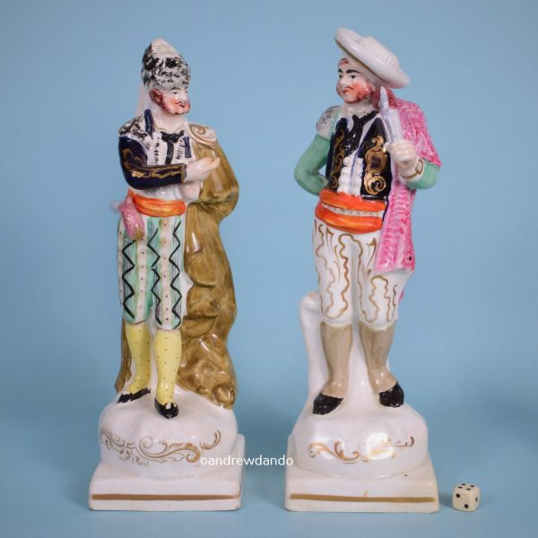 Large Pair of Staffordshire Theatrical Figures.