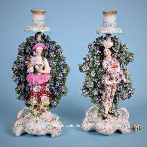 Pr Derby Porcelain 'Italian farmers'