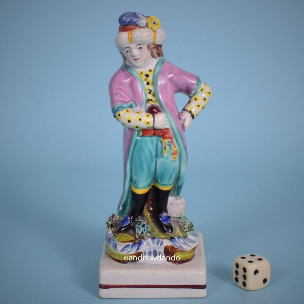 Staffordshire Figure of a Boy in Turkish Costume.