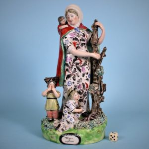 Staffordshire Figure 'Widow & Orphans'