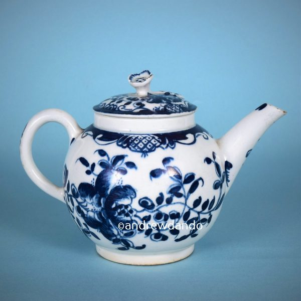 Lowestoft Miniature Teapot