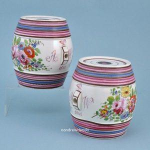Pair of Bristol Pottery Spirit Barrels.