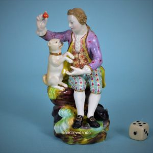 Figure of a Man with a Pug Dog.