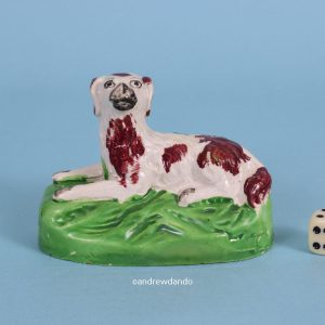 Staffordshire Dog on Green Base