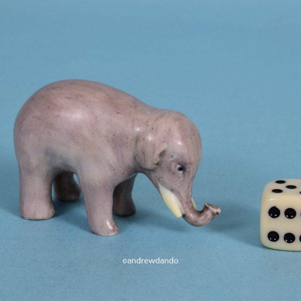 Staffordshire Miniature Elephant.
