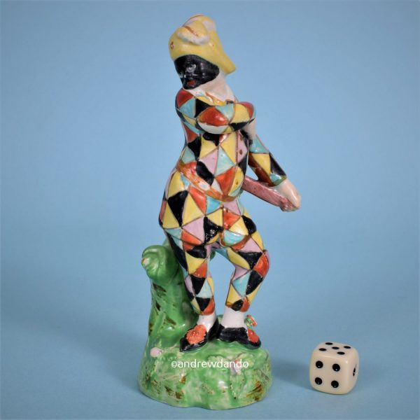 Staffordshire Figure of Harlequin.