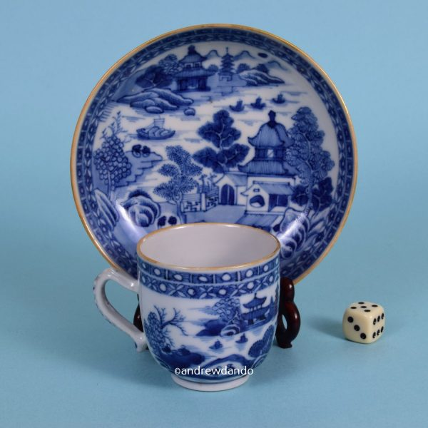 Chinese Export Coffee Cup & Saucer