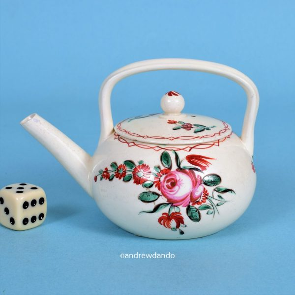 Miniature Creamware Tea kettle.