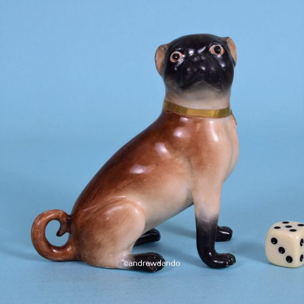 English Porcelain Pug Dog
