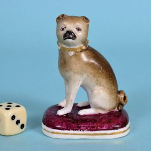 English Porcelain Pug Dog.