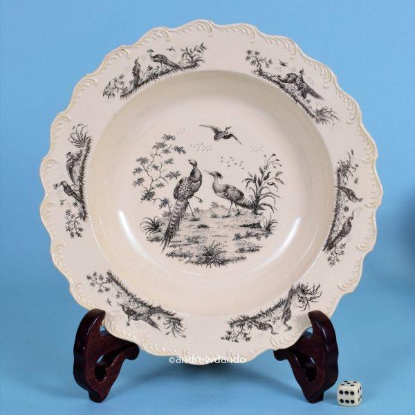 Creamware 'Liverpool Birds' Plate