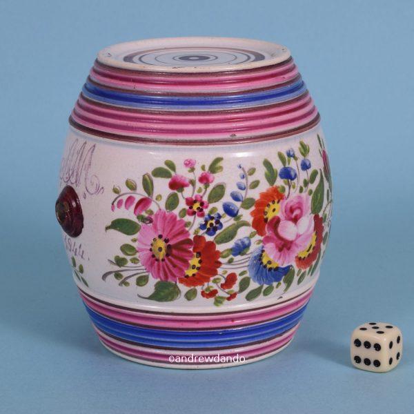 Bristol Pottery Spirit Barrel.