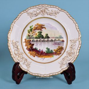 Plate with Paddle Steamer scene.