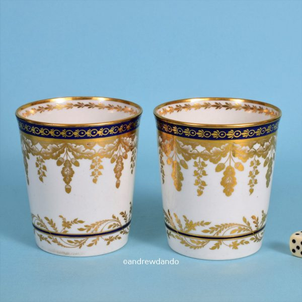 Pair of Worcester Porcelain Beakers.