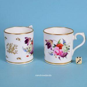 Pair of Coalport Porcelain Mugs.