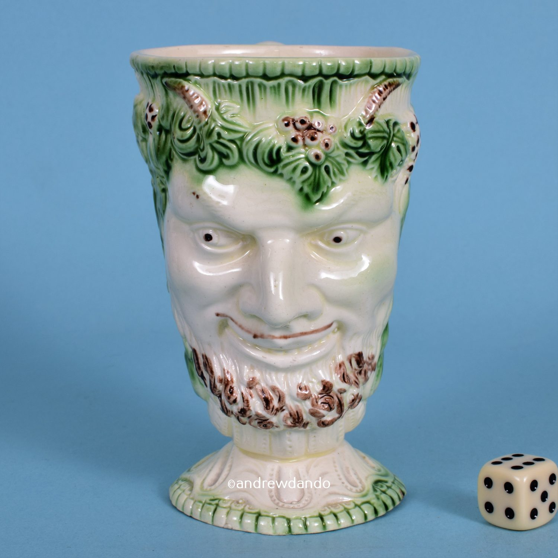 English Creamware Satyr Mug.