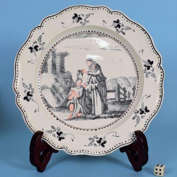 English Creamware Plate