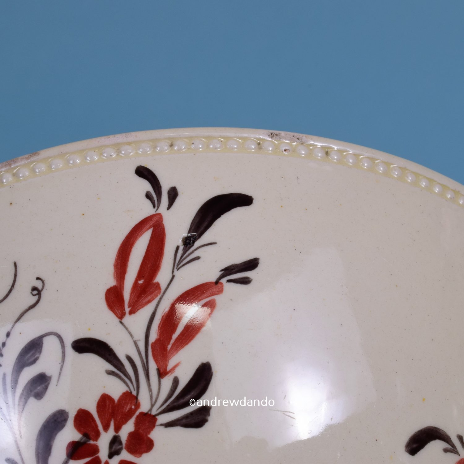 English Creamware Small Bowl.