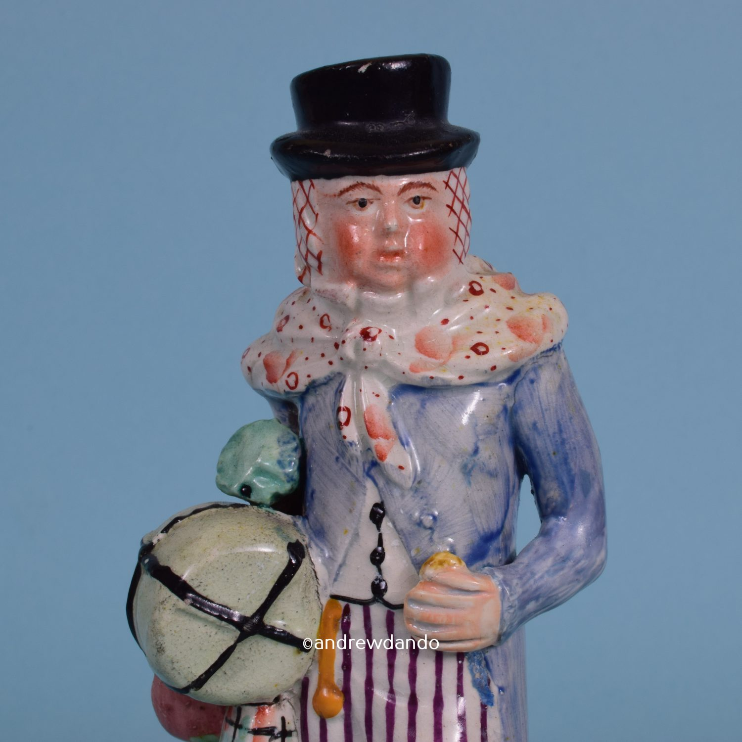 Staffordshire Theatrical Figure – Lubin Log.