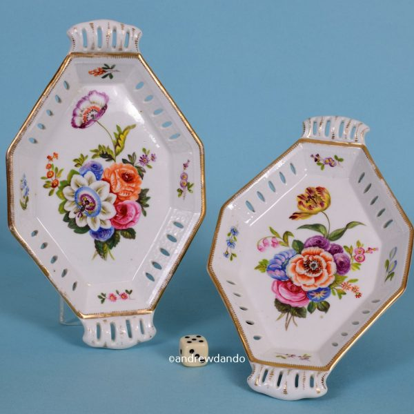 Pair of English Porcelain Dishes