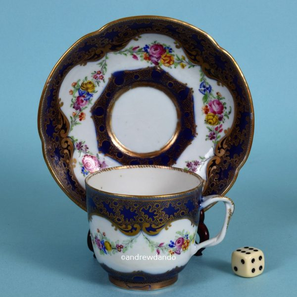 Chinese Export Porcelain Coffee Cup & Saucer.
