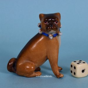 German Porcelain Pug Dog (sm)