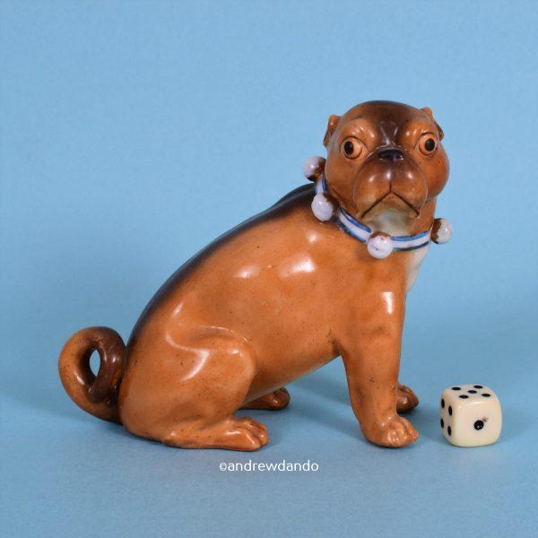 German Porcelain Pug Dog (lg)