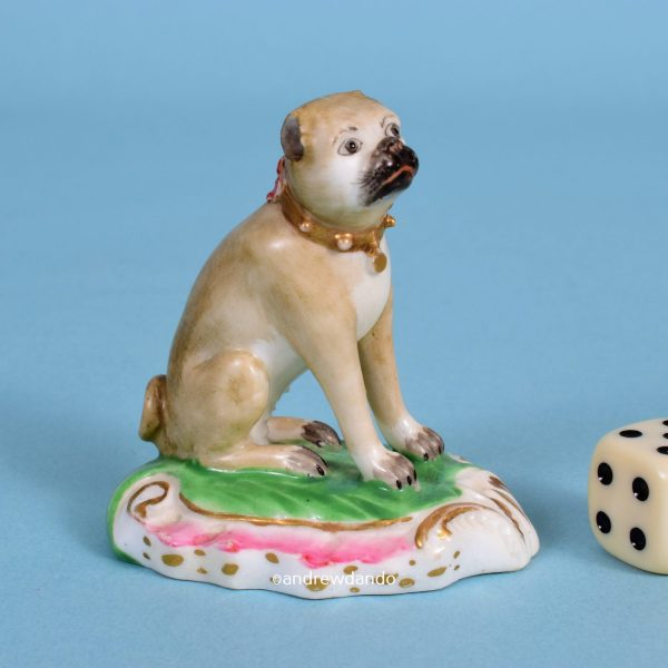 Derby Model of a Seated Pug