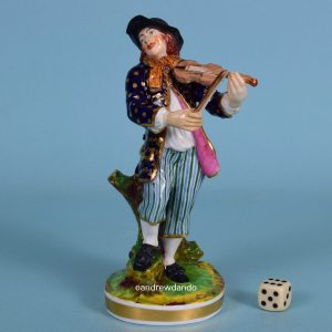 Derby Figure of a Peasant Fiddler.
