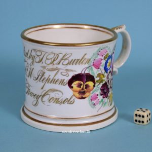 English Porcelain Mug - Cornish Mining Interest.