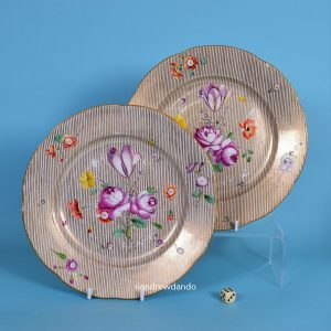 Pair of Frankenthall Porcelain Plates
