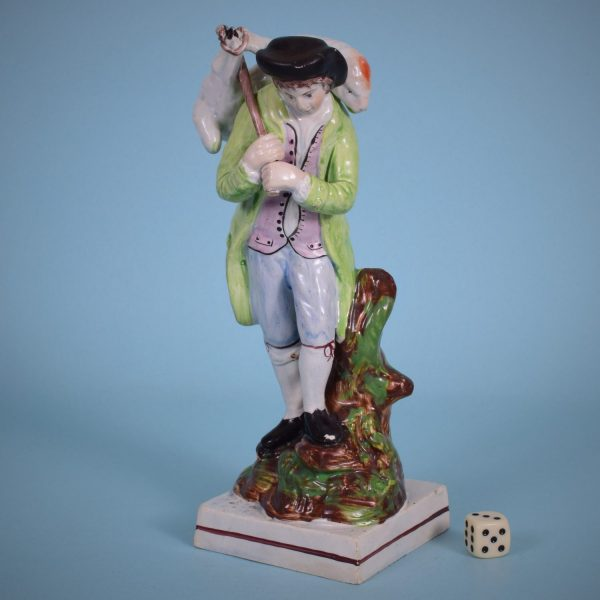 Staffordshire Figure of The Lost Sheep Found.