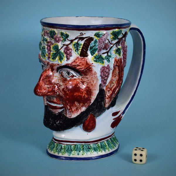 Large Pottery Satyr Mug.