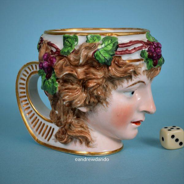 Derby Porcelain 'Ariadne' Mask Mug.