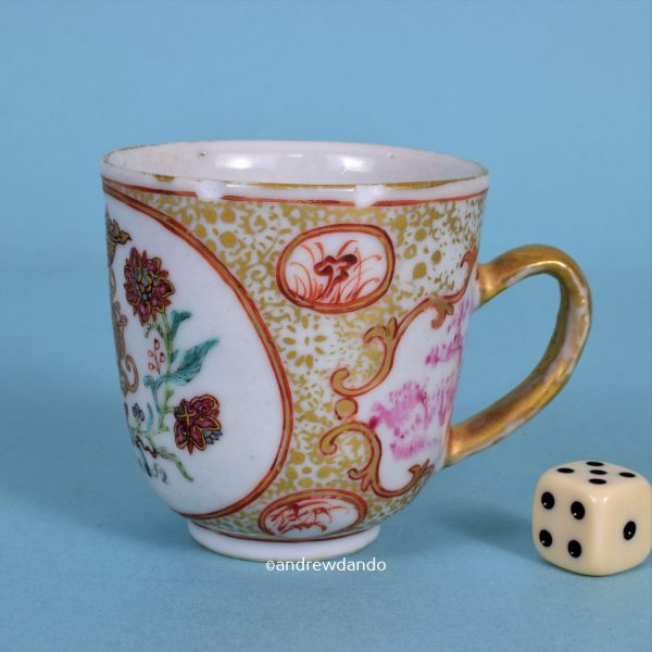 Chinese Export Dated Coffee Cup.