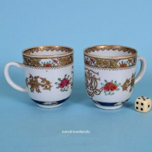 Pair of Chinese Export Porcelain Coffee Cups.