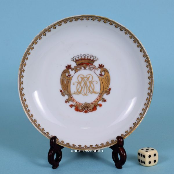 Chinese Export Porcelain Saucer