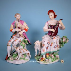 Large Pair of Derby Musicians