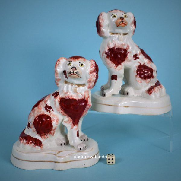 Pair of Victorian Staffordshire Spaniels.