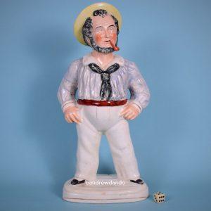 Staffordshire Figure of a Sailor.