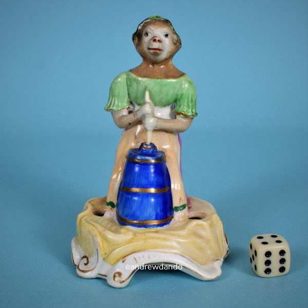 Staffordshire Porcelain Monkey
