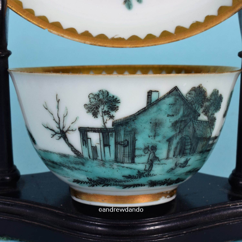 Giles Decorated Chinese tea Bowl & Saucer (b)