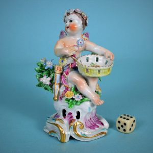 Bow Porcelain Figure of Cupid.