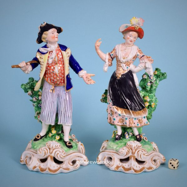 Derby Figures of Sailor & Lass