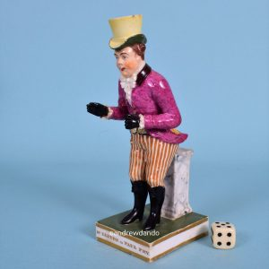 Derby Figure of Mr Liston as Paul Pry.
