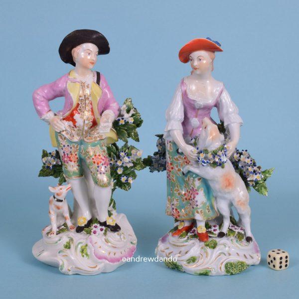 Pair of Derby Figures - Garland Shepherds.