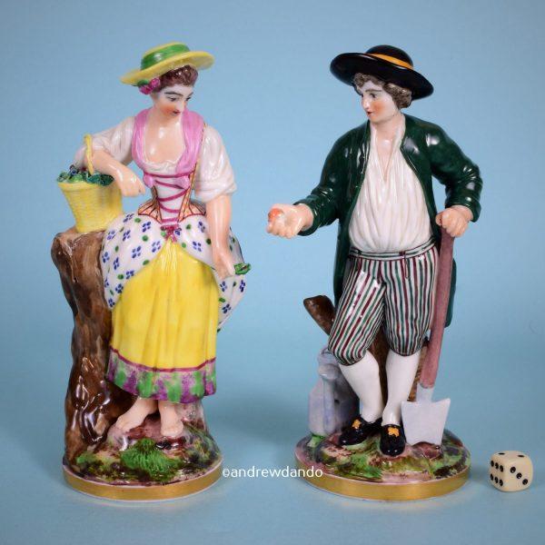 Pair of Neiderville Figures of Gardeners