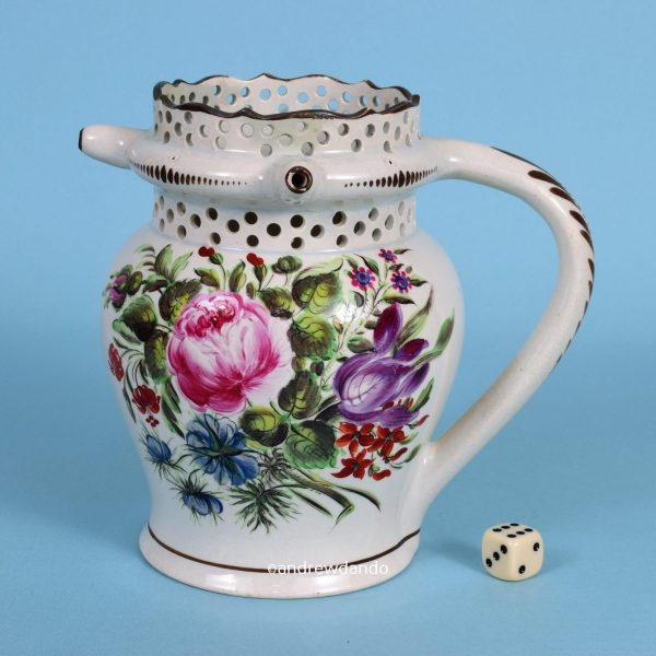 Bristol Pottery Puzzle Jug, Dated 1814
