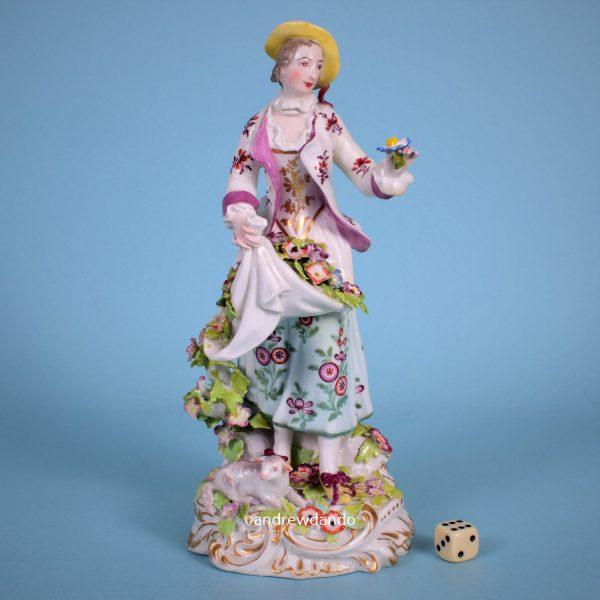 Chelsea Figure of a 'Dresden Shepherdess'